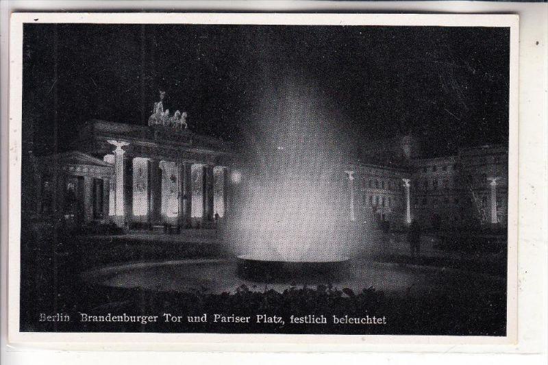 1000 BERLIN, Brandenburger Tor, Berlin bei Nacht
