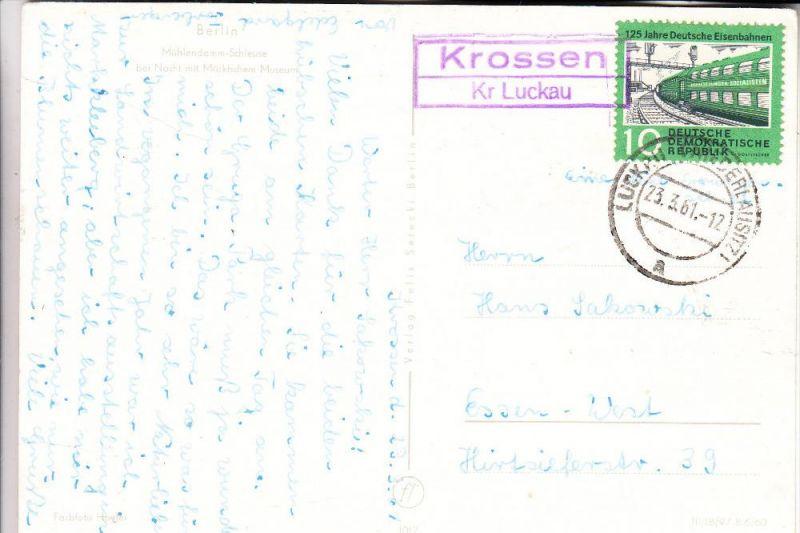 0-7961 DRAHNSDORF - KROSSEN, Postgeschichte, Landpoststempel Krossen Kr. Luckau, 1961