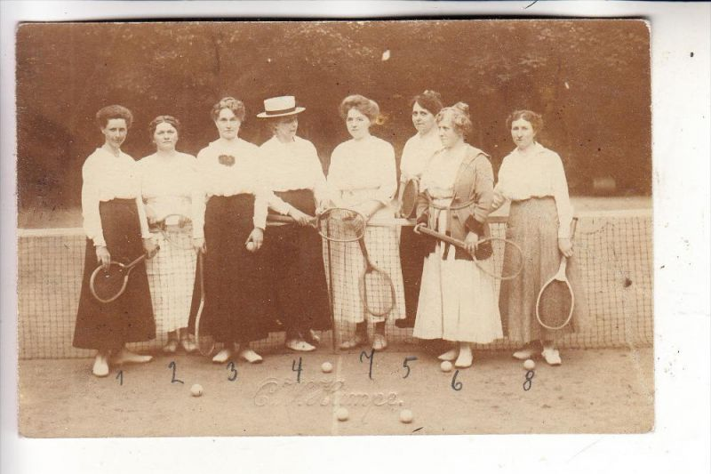 SPORT - TENNIS - Damen / Ladies / Dames, 1920, Photo-AK