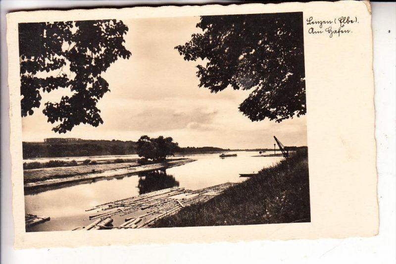 0-2805 LENZEN, Am Hafen, Flösserei, 1939