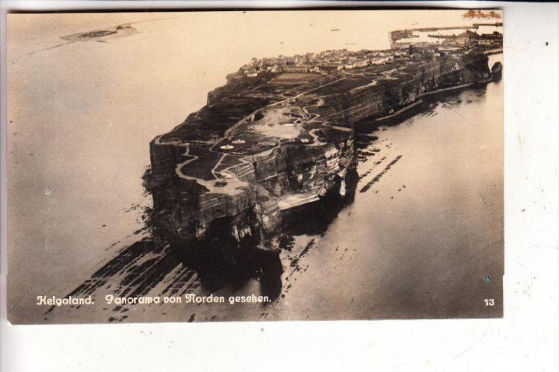 2192 HELGOLAND, Luftaufnahme, rücks. kl. Klebereste
