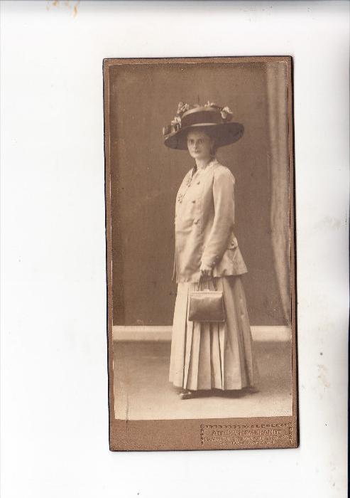 MODE - Hart-Photo ca. 1900, 8 x 16,2 cm