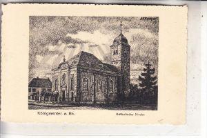 5330 KÖNIGSWINTER, Katholische Kirche, Künstler-Karte Euchler