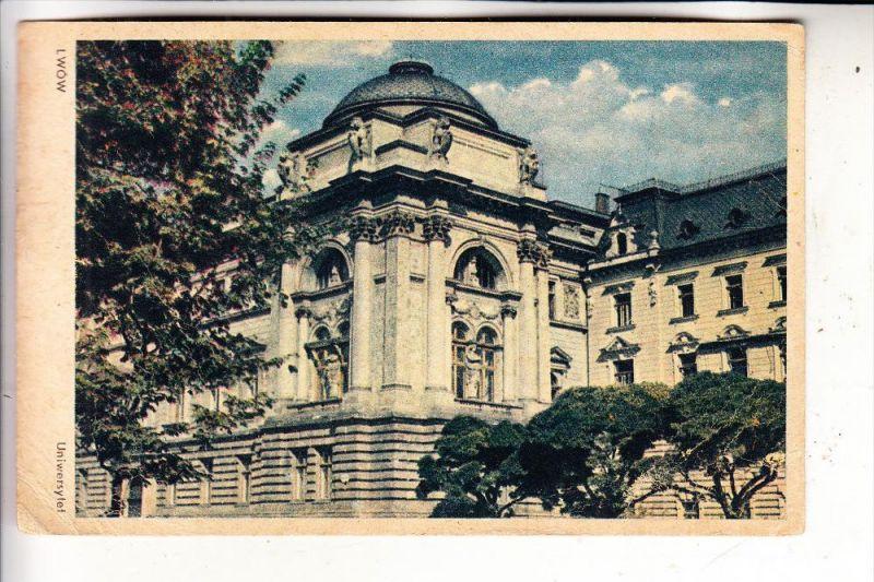 UKRAINE - LWIW / LWOW / LEMBERG, Universität, 1947 Polnische Frankatur OKOCIM