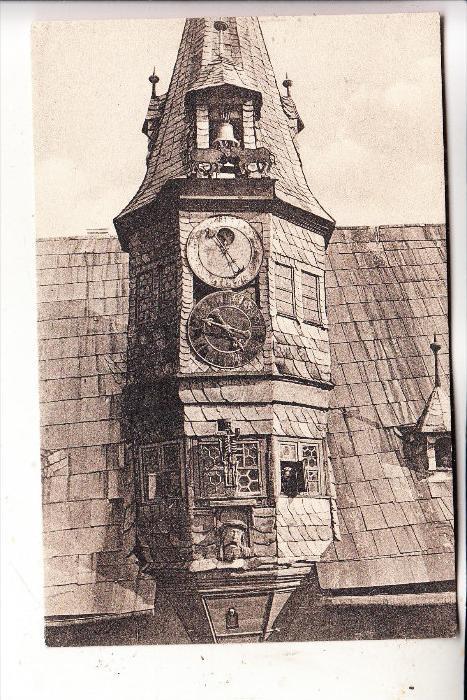 8703 OCHSENFURT, Kunst-Uhr am Rathaus