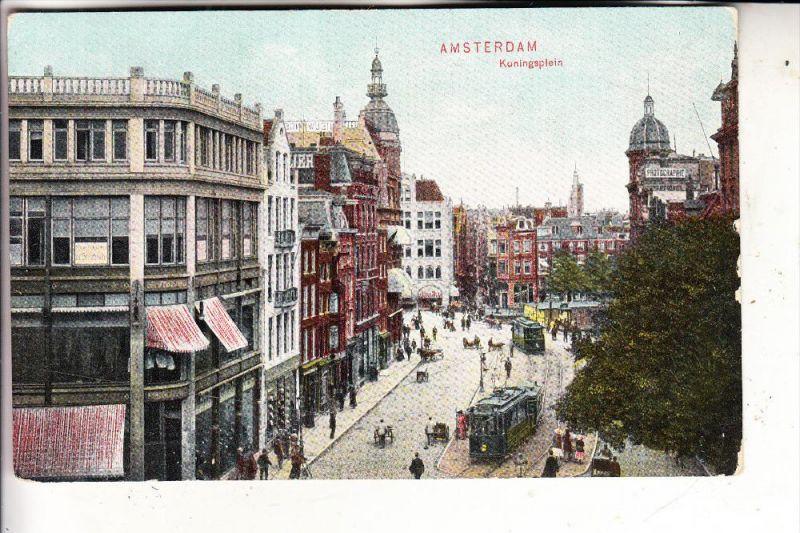 NL - NOORD-HOLLAND - AMSTERDAM,Koningsplein, Tram, 1907, Trenkler