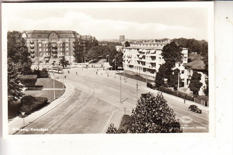 S 400 10 GÖTEBORG, Korsvägen, Tram, 1955
