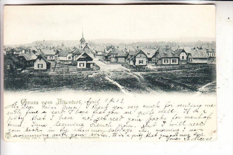 4300 ESSEN - RÜTTENSCHEID, Altenhof, Panoram, 1903