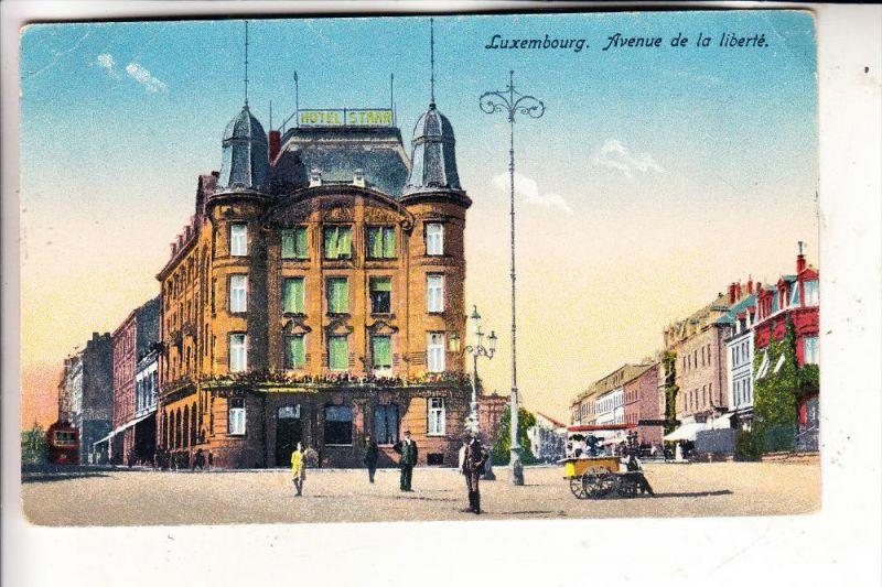 L 1000 LUXEMBURG, Av. de la Liberte, Hotel Starr, Eisverkäufer, Harles-Lux.