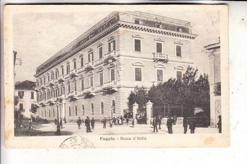 I 71100 FOGGIA / Foggia, Banca d'Italia, 1918, Amb. Foggia-Napoli, TPO, Ambulant, Bahnpost