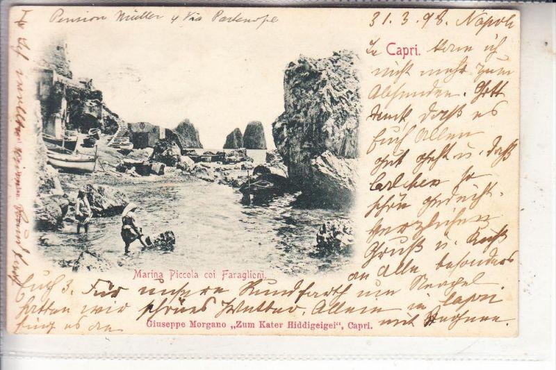 I 80073 CAPRI / Napoli, Marina Piccola coi Faraglioni, 1898, Stengel-Dresden