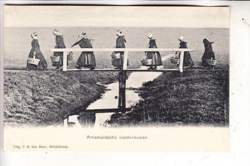 NL - ZEELAND - MIDDELBURG-ARNEMUIDEN, Vischvrouwen, ca. 1906, de Boer-Middelburg