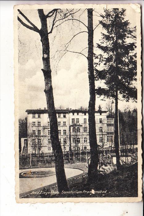 OBER-SCHLESIEN - BAD ZIEGENHALS / GLUCHOLAZY, Sanatorium, 1938, kl. Einriss