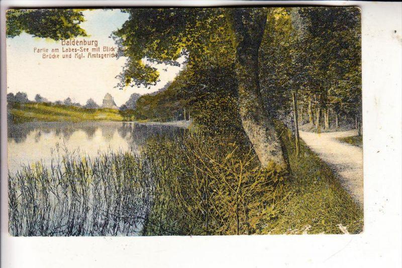 POMMERN - BALDENBURG / BIALY BOR, Amtsgericht, Labes-See, 1921, kl. Druckstelle