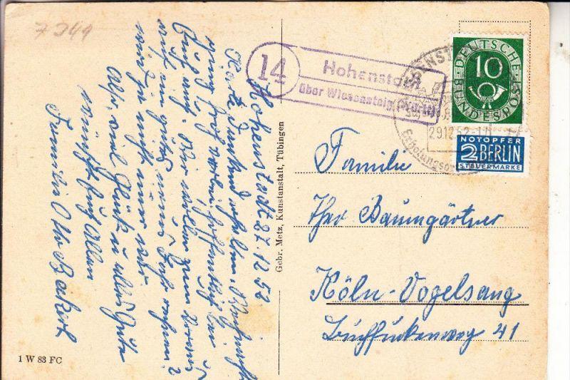 7349 HOHENSTADT, Postgeschicht, Landpoststempel