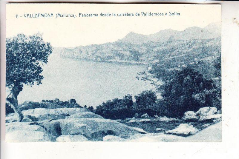 E 07170 VALLDEMOSA, Panorama desde la Carretera de Valldemosa a Soller