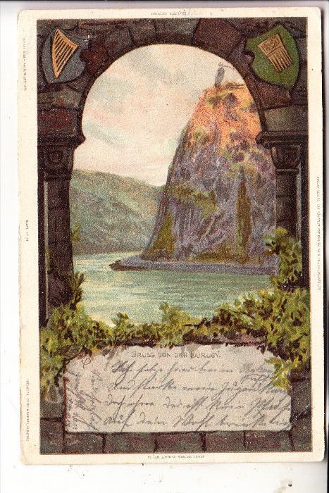 5423 LORELEY, Künstler-Karte 1899