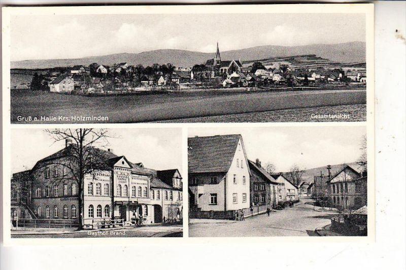 3452 BODENWERDER - HALLE, Gasthof Brand, Strassenpartie, Gesamtansicht