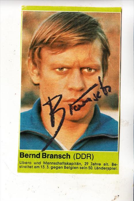 SPORT - FUSSBALL - DDR NATIONALMANNSCHAFT - Autogramm, Zeitungsausschnitt
