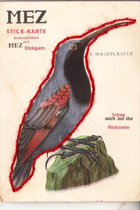 WERBUNG / Advertising - MEZ -Stick-Karte Nr.4 Mauerläufer