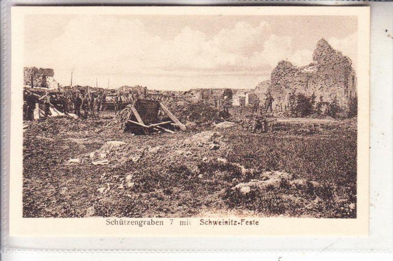 MILITÄR - 1.Weltkrieg, Schützengraben 7 mit Schweinitz-Feste