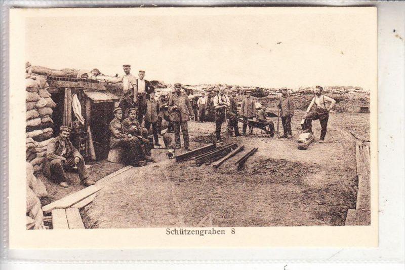MILITÄR - 1.Weltkrieg, Schützengraben 8