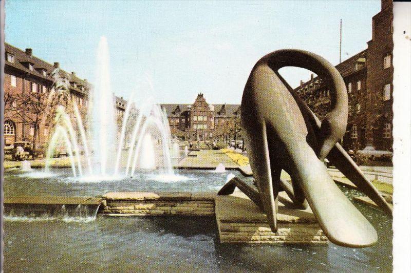 4200 OBERHAUSEN, Wasserspiele Friedensplatz, 1964