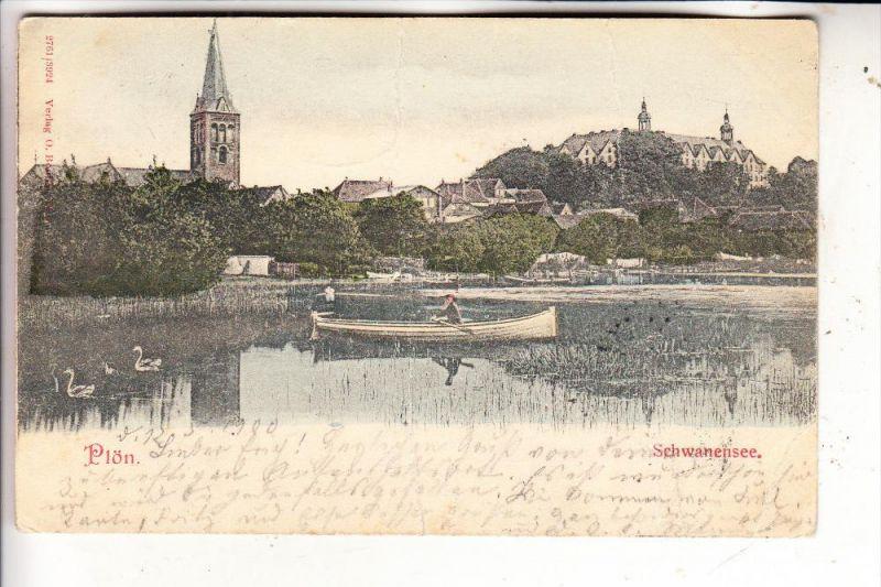 2320 PLÖN, Schwanensee, 1900, kl. Druckstelle 0