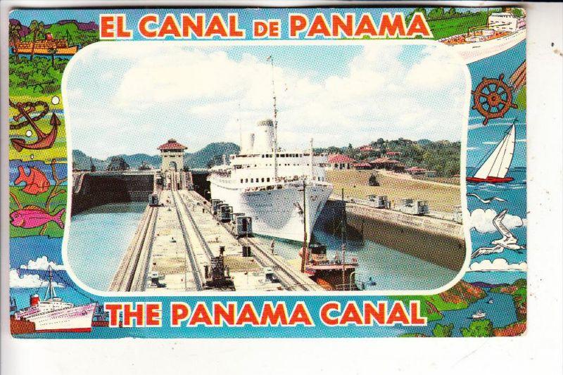 PANAMA - Miraflores Locks, SS KUNGSHOLM