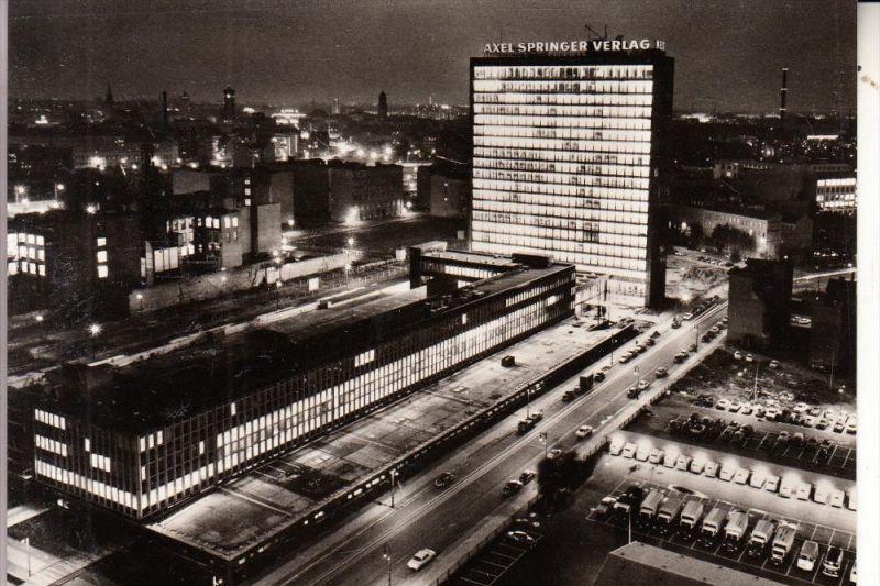1000 BERLIN - KREUZBERG, Kochstrasse, Axel Springer Verlag bei Nacht