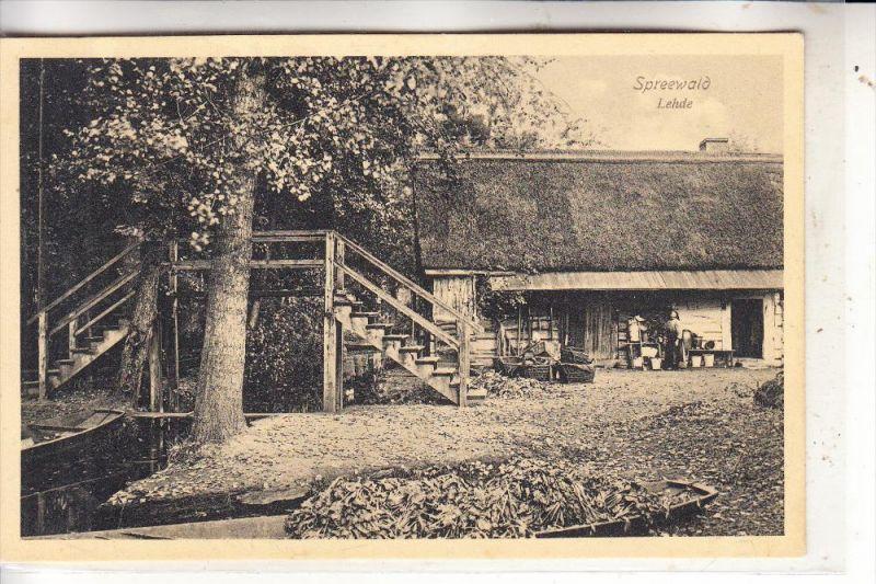 0-7543 LÜBBENAU - LEHDE, Bauernhof, 1912