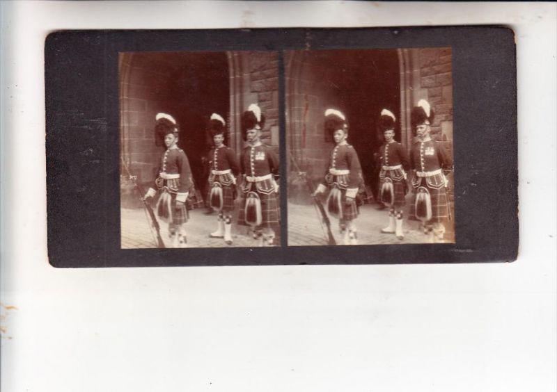 UK - SCOTLAND - EDINGBURGH, Soldiers, Stereo - Photo, ca. 1900