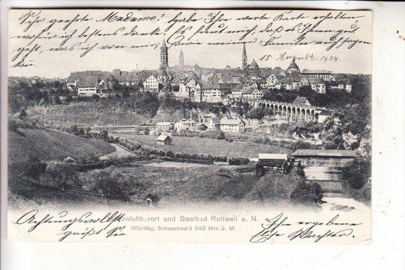 7210 ROTTWEIL, Panorama, 1904 0