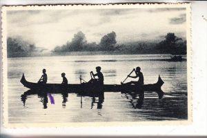 MICRONESIA - CAROLINES, Eingeborene im Kajak, Ethnik - Völkerkunde