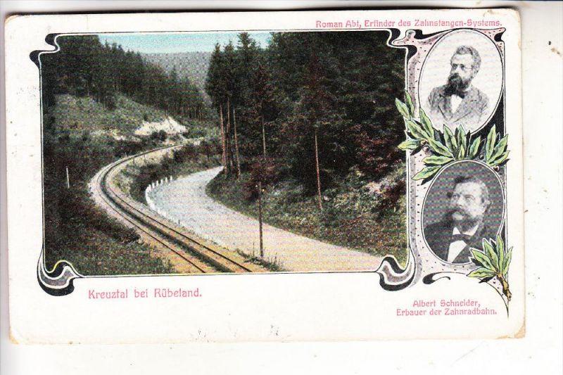 0-3703 ELBINGERODE - RÜBELAND, Zahnradbahn, Albert Schneider / Roman Abt, 1914, nach Mexico befördert