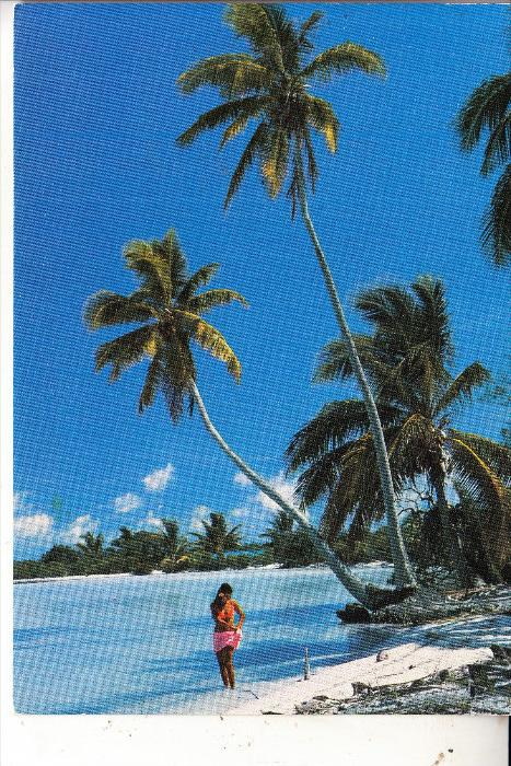 TAHITI - Girl on the beach