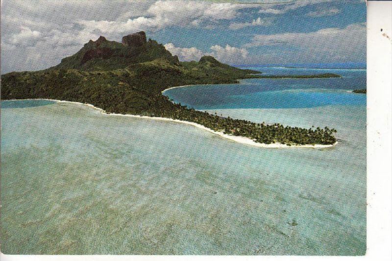 TAHITI - BORA-BORA, Matira Point, vue airienne