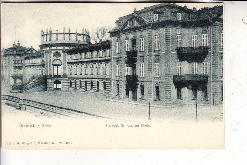 6200 WIESBADEN, Herzogliches Schloss am Rhein, v. Boogart, ca. 1905
