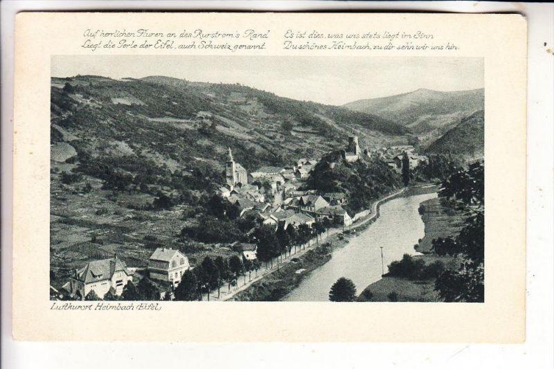 5169 HEIMBACH, Panorama, Heimat-Gedicht