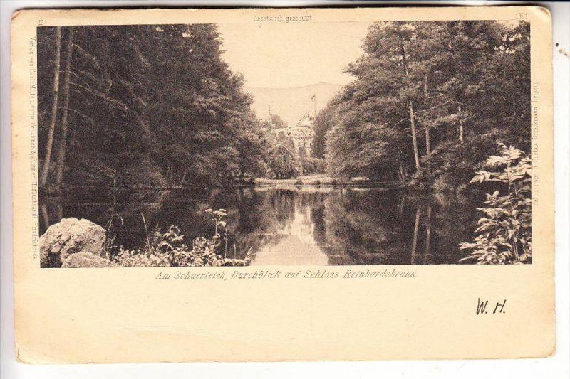 0-5804 FRIEDRICHRODA - REINHARDSBRUNN, Schaerteich am Schloss, 1906