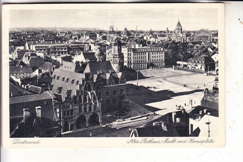 4600 DORTMUND, Altes Rathaus, Markt & Hansaplatz
