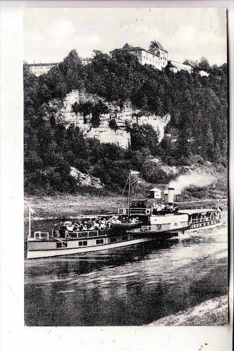 BINNENSCHIFF / River Boat / Bateau - WESER - Schaufelraddampfer bei Fürstenberg