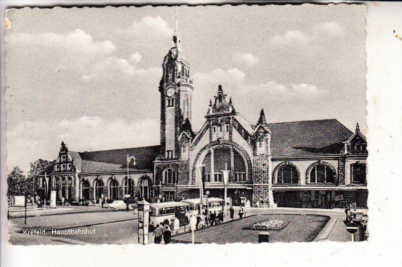 4150 KREFELD, Hauptbahnhof / Station / La Gare, 195..