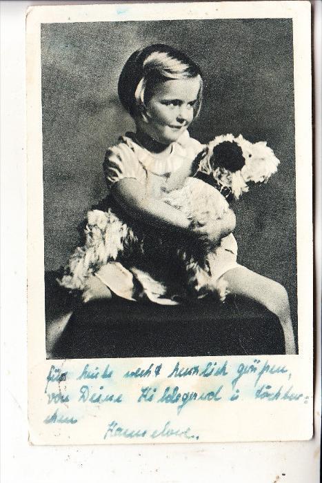 KINDER - Mädchen mit Hund, 1943, Feldpost Gießen Land nach Frankreich