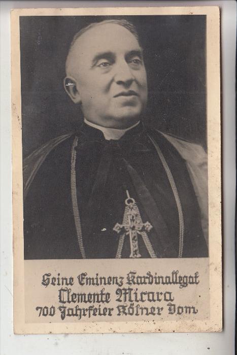5000 KÖLN, EREIGNIS, Kardinalbischof Clemente Micara von Velletri anläßlich der 700 - Jahr Feier des Kölner Dom