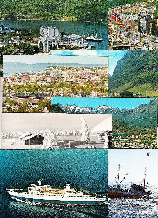 NORGE / NORWEGEN, > 50 modern cards from 50ies till today