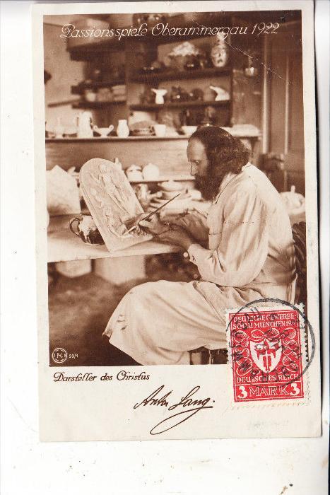 8103 OBERAMMERGAU, Passionsspiele, Christusdarsteller Anton Lang, 1922 0