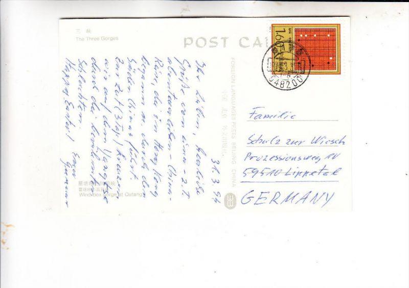 CHINA- 1993, Michel 2471, AK-Einzelfrankatur nach Deutschland