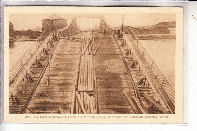 LETTLAND - LIBAU / LIEPAJA, Eisenbahnbrücke vor der Sprengung durch die Russsen