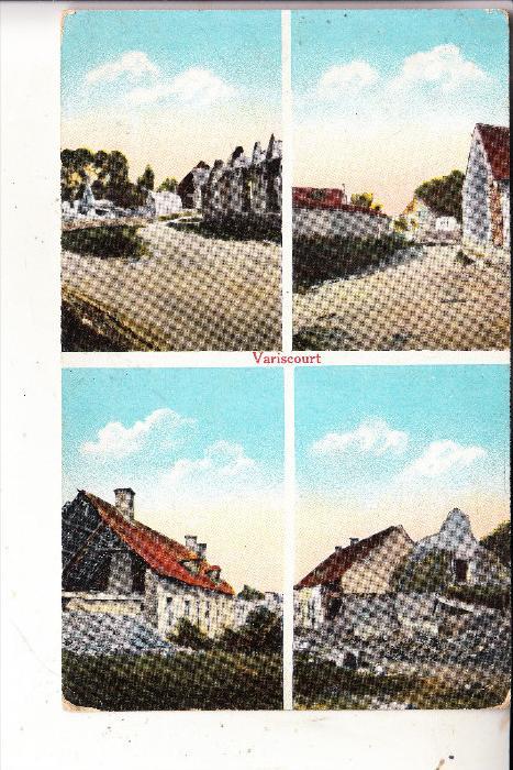 F 02190 VARISCOURT, 1.Weltkrieg, 4 Ansichten